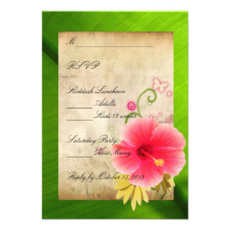 RSVP Response Card 3 Invitations