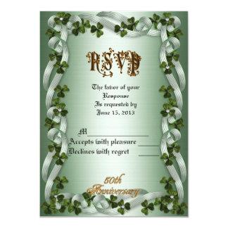 RSVP response card 50th anniversary vow renewal Ir