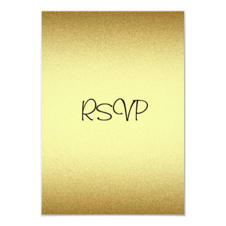 RSVP Response Card All Events Elegant Gold Personalized Invitation