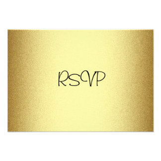 RSVP Response Card All Events Elegant Gold Personalized Invitations