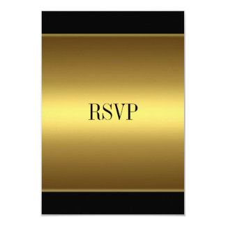 RSVP Response Card Black Gold All Events