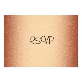 RSVP Response Card Elegant Copper Bronze