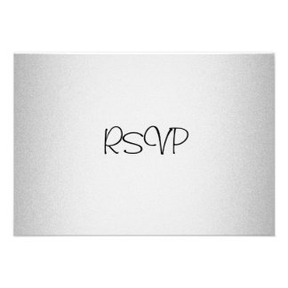 RSVP Response Card Events Elegant Light Silver Personalized Invitation