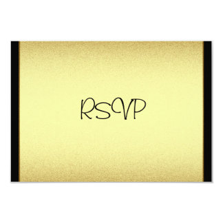 RSVP Response Card Events Gold Black