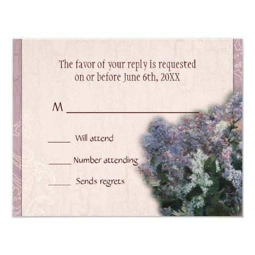 RSVP Response Card - Impressionistic Lilacs