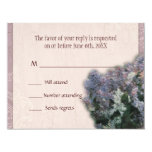 "RSVP Response Card - Impressionistic Lilacs 4.25"" X 5.5"" Invitation Card"
