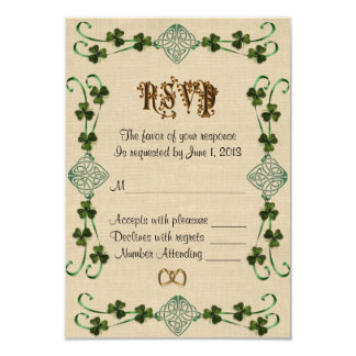 RSVP response card Irish Unity knot