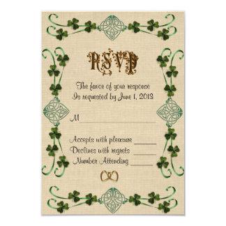 RSVP response card Irish Unity knot