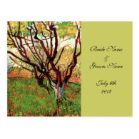 RSVP, response card, Orchard in Blossom Post Card