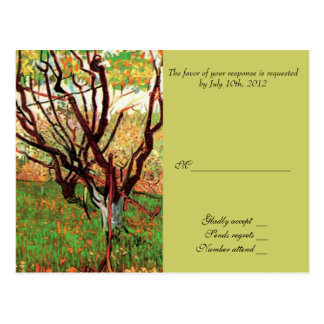 RSVP, response card, Orchard in Blossom Postcards