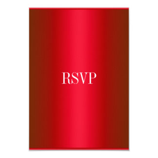 RSVP Response Card Red White All Events