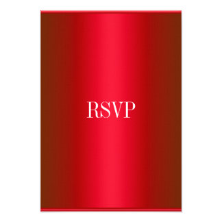 RSVP Response Card Red White All Events Invites