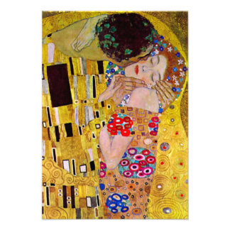 RSVP Response Card The Kiss by Gustav Klimt Custom Announcements