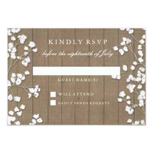 wedding invitations with rsvp best 44 babys breath rustic wedding invitations stunning 9778