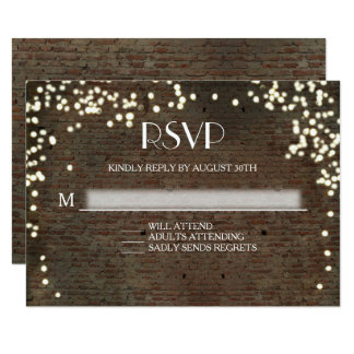 RSVP Response Industrial Chic Brick String Lights Card