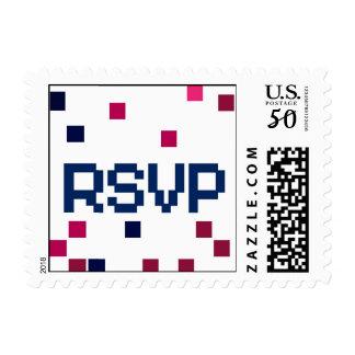 Rsvp response stamp in pixels