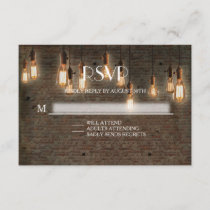 RSVP Response Urban Industrial Edison Lights Brick