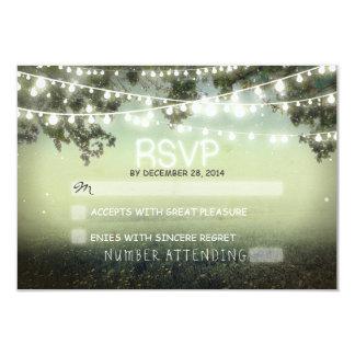 rsvp romántico del boda de las linternas de la invitaciones personalizada