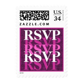 RSVP rosado y magenta S200 que se casa moderno Timbre Postal