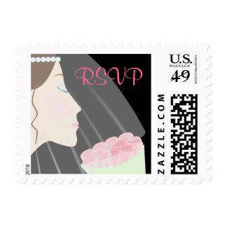 RSVP Rose Bride Postage