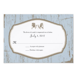 RSVP Rustic Country Wedding Invitation