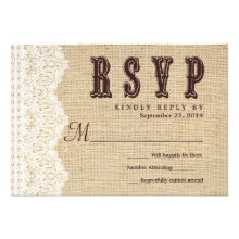 RSVP Rustic Typography Wedding Reply Custom Announcement