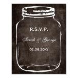 rsvp rústico del boda del tarro de albañil invitación 10,8 x 13,9 cm