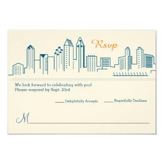 RSVP San Diego Skyline Wedding Card