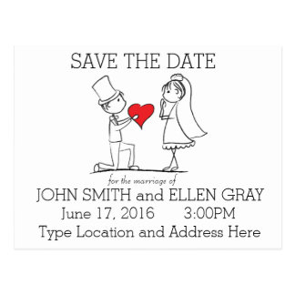 RSVP Save The Date Wedding Post Card