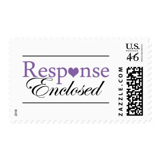 RSVP sella colores púrpuras y negros del | del bod Franqueo