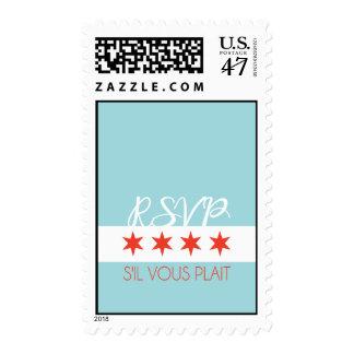 RSVP s'il vous plait Chicago Stamp