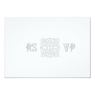 RSVP Silver Effect Celtic Knot on White Card