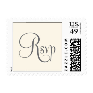 Rsvp silver grey and ivory postage stamp