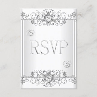 RSVP Silver White Diamond Hearts 2