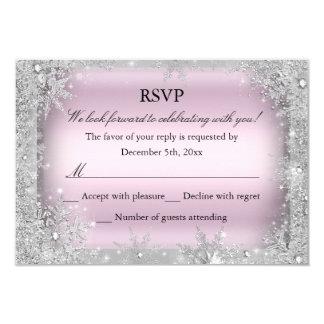 RSVP Silver Winter Wonderland Pink Sweet 16 2 Card