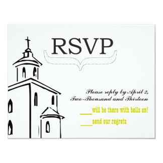 RSVP-size de la capilla para los sobres de RSVP Invitación 10,8 X 13,9 Cm
