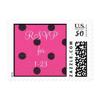 RSVP small size hot pink black dot stamp