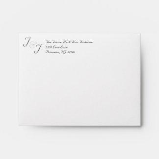 RSVP - sobres de encargo de la invitación del boda