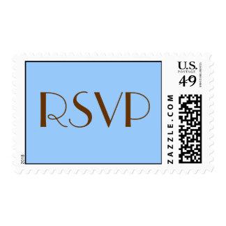 RSVP stamp blue/brown