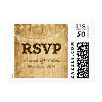 RSVP stamp for Country Wedding
