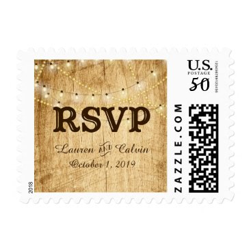 langdesignshop RSVP stamp for Country Wedding