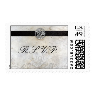 RSVP Stamps - Celtic Gaelic Knot on Parchment