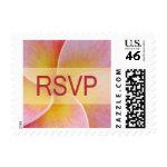 plumeria RSVP stamps