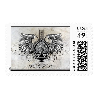 RSVP Stamps - Urban Winged Tattoo Fancy Spade