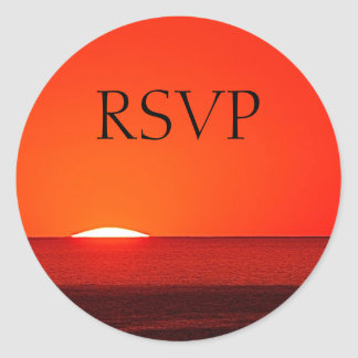 RSVP Sticker -Sunset, Sunrise