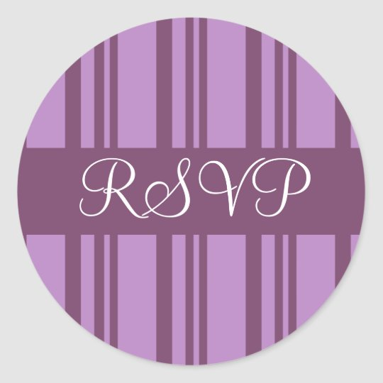 RSVP Stripes Envelope Sticker Seal