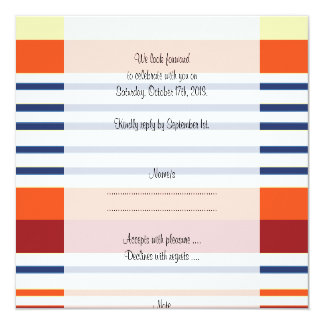 RSVP - Stripes (Parallel Lines) - Yellow Blue Card