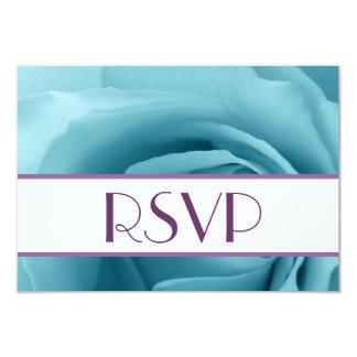 """RSVP subió azules turquesas que casa la tarjeta de Invitación 3.5"""" X 5"""""""