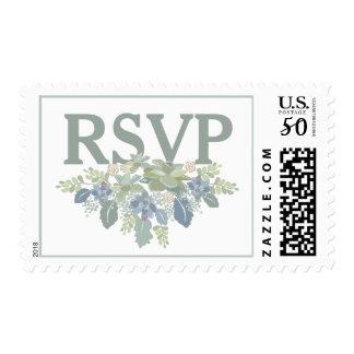 """RSVP"" Succulent Bouquet Wedding Response Postage"