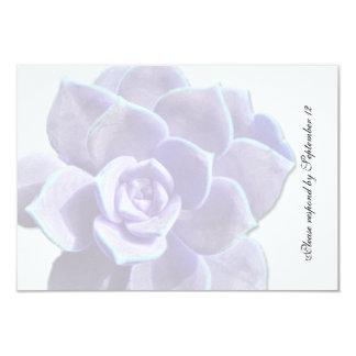 """Rsvp suculento del vintage de la lila translúcida invitación 3.5"""" x 5"""""""